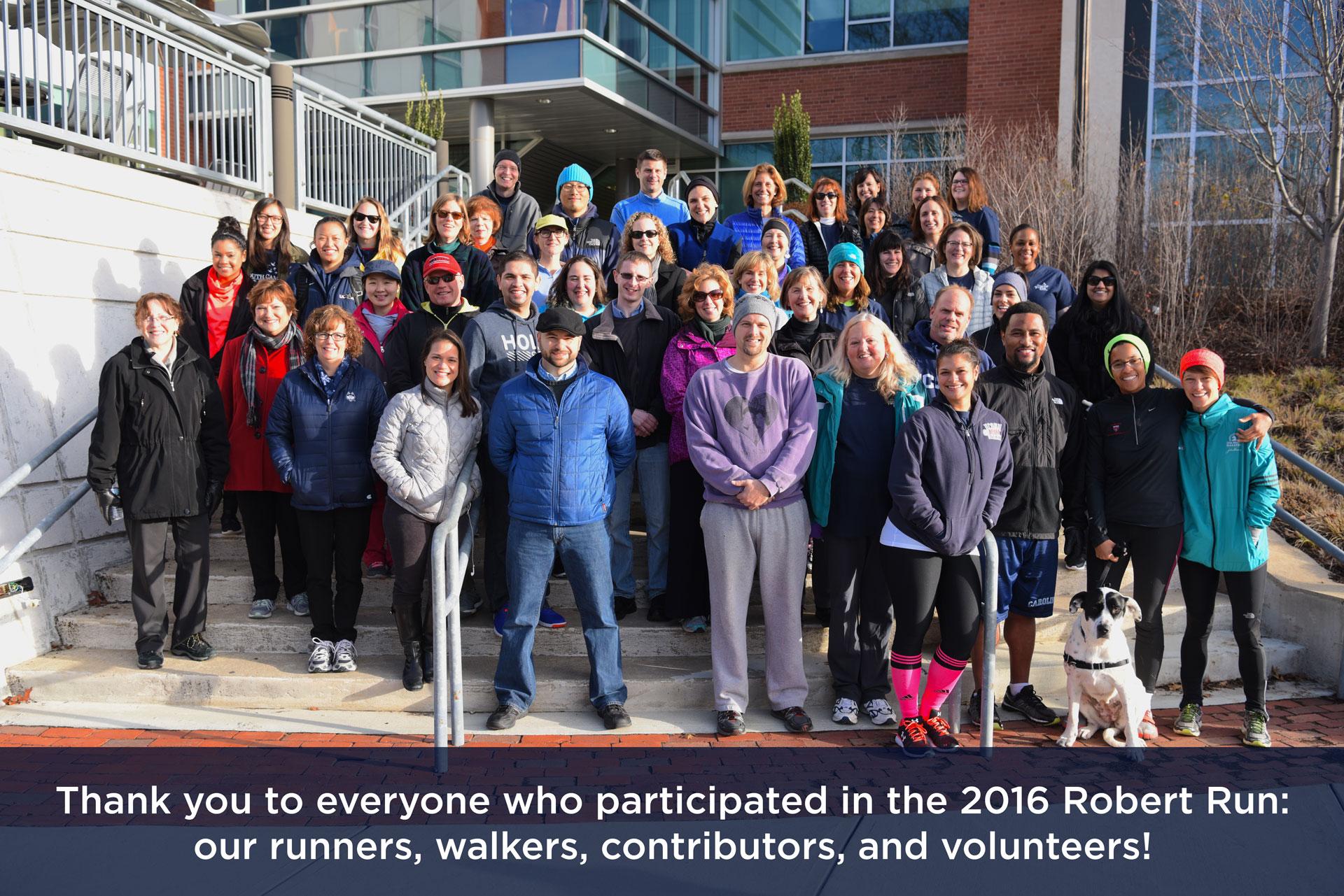 Photo of 2016 Robert Run participants